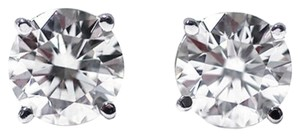 Other 0.50 Ct Round Cut 14K White Gold Diamond Stud Earrings