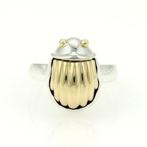Tiffany & Co. Tiffany Co. 18k Yellow Gold 925 Silver Scarab Beetle Ring