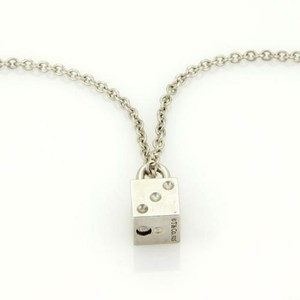 Tiffany & Co. Tiffany Co. Vintage Sterling Silver Domino Box Pad Lock Chain Necklace