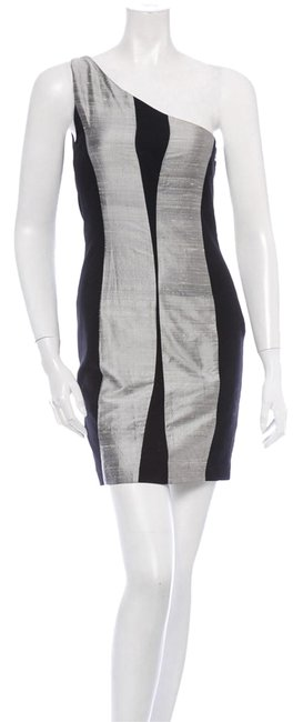 Item - Silver/Blk Mid-length Cocktail Dress Size 0 (XS)