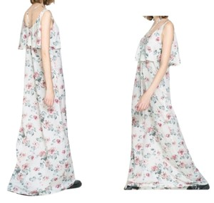 ivory floral Maxi Dress by Zara