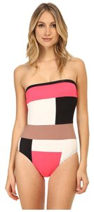 Kate Spade Kate Spade New York Mykonos Color Block Bandeau Maillot w/ Removable Soft Cups & Strap Size XL