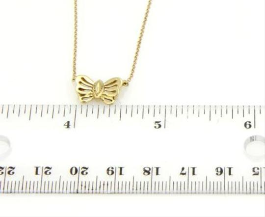 Tiffany & Co. Tiffany Co. 18k Yellow Gold Nature Butterfly Pendant Chain Necklace