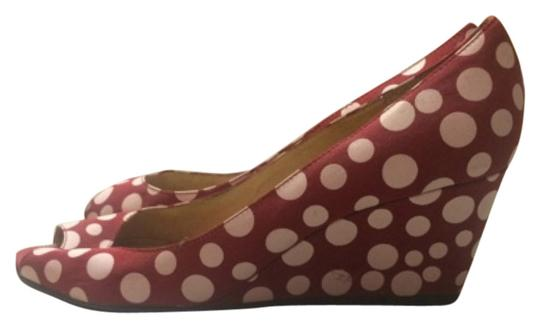 Preload https://item3.tradesy.com/images/yellow-box-red-and-white-polka-dot-wedges-size-us-10-regular-m-b-5945647-0-0.jpg?width=440&height=440