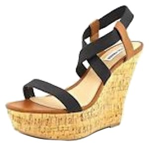Steve Madden Sandals Strappy Black Wedges