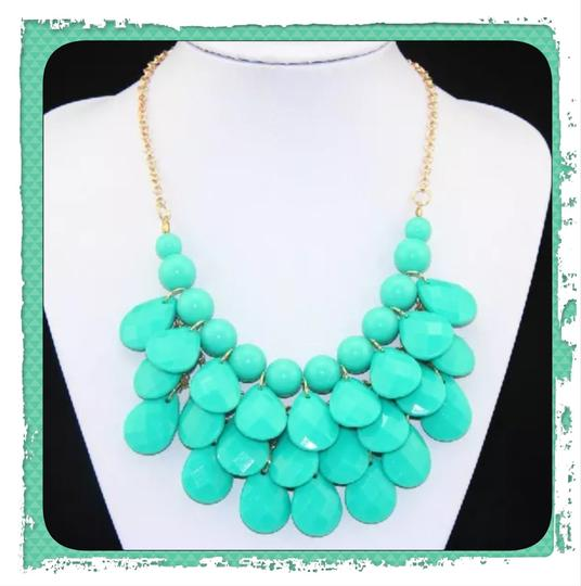 Other New Turquoise Bubble Necklace & Earring Set