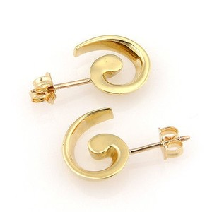 Tiffany & Co. Tiffany Co. 18k Yellow Gold Spiral Designer Earrings