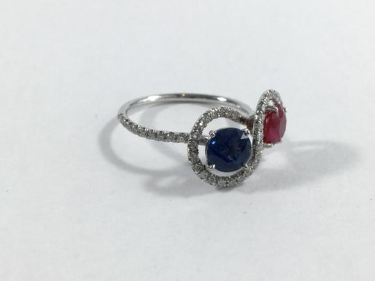 Other Platinum 2.35ctw Diamond Ruby Sapphire Fancy Cocktail Ring
