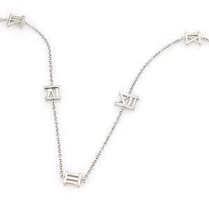 Tiffany & Co. Tiffany Co. Italy 18k White Gold Atlas Designer Necklace