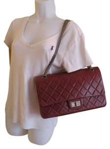 Chanel Reissue Bordeaux Burgundy 227 Shoulder Bag