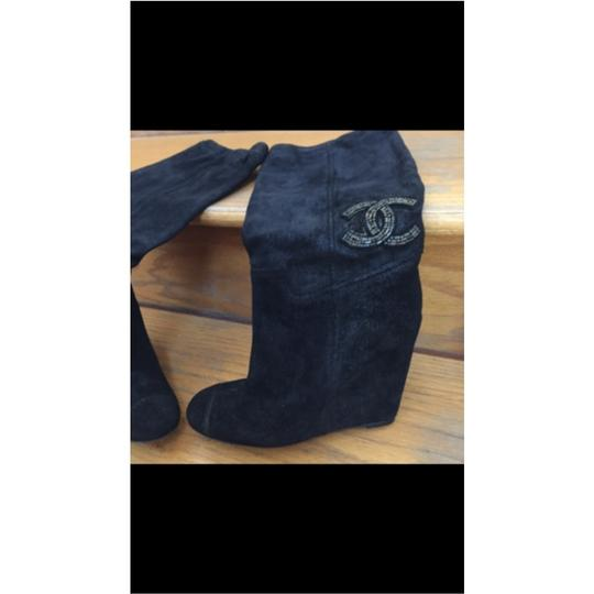 Chanel Chanel Limited Edition black Suede Boots