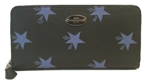 Coach COACH F53426 STAR C NAVY BLUE STAR DESIGN ACCORDION WALLET LIMITED EDITION
