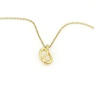 Tiffany & Co. Tiffany Co. Elsa Peretti 18k Yellow Gold Double Curved Loop Pendant Necklace