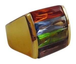 Technibond Technibond Multi-color Gemstone Ring Size 7