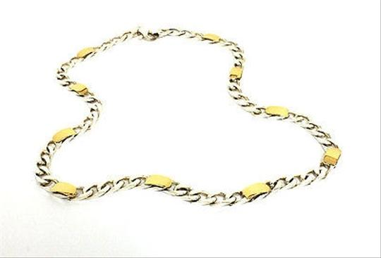 Tiffany & Co. Tiffany Co. 18k Yellow Sterling Silver Curb Link Chain Necklace