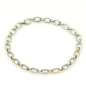Cartier Cartier 18k Yellow Gold Steel Turi Chain Link Bracelet With Papers