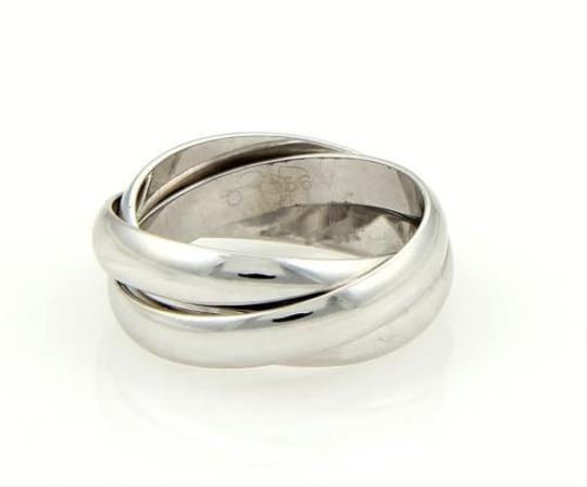 Cartier Cartier 18k White Gold Trinity Rolling Band Ring 3.5mm Eu 51-us 5.75