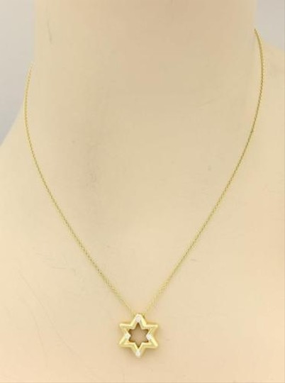 Tiffany & Co. Tiffany Co.18k Yellow Gold Etoile Diamond Star Of David Pendant Necklace