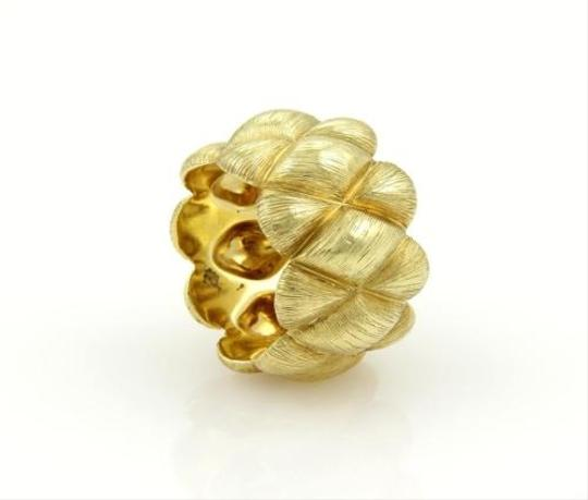 Henry Dunay Designs Henry Dunay 18k Yellow Gold Fancy Textured Design Wide Band Ring 6.25