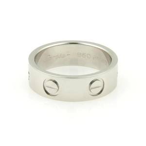 Cartier Cartier Platinum Love Bandring 5.5mm Wide With Cert Eu 49 - 4.75