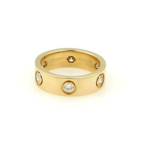 Cartier Cartier 18k Yellow Gold Diamond Love Band Ring 5.5mm Band Ring 49 Us4.75