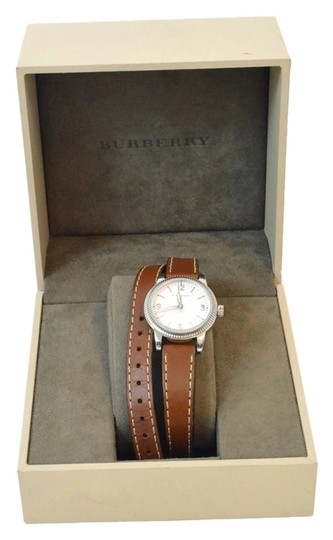 Burberry Burberry Utilitarian Leather Wrap Watch