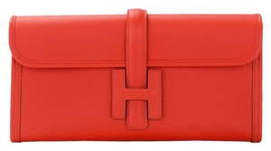 Hermès Red Clutch