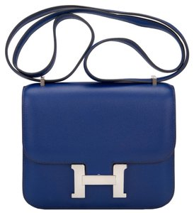 Hermès Constance Mini 18cm Blue Shoulder Bag