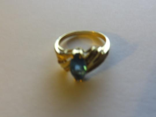 Other GORGEOUS 14K YELLOW GOLD MARQUIS CUT BLUE TOPAZ RING 3.21 GRAMS