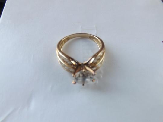 Other PRE-OWNED AMAZING 2CT Cubic Zirconia 14k solid yellow gold ring size 6.5