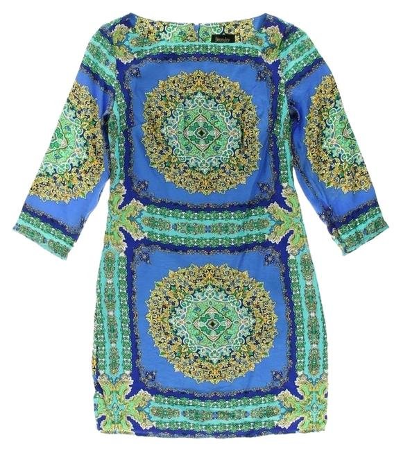 Laundry by Shelli Segal short dress Blue multicolor on Tradesy