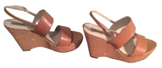 Ellen Tracy Cognac/Tan Sandals