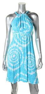 INC International Concepts short dress Blue white on Tradesy