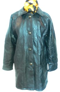 MAXAM BRAND Leather Mosaic Style Size: Large Top Grain Lambskin Women's Coat