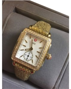 Michele Authentic Michele Deco 16 Diamond Two Tone Mother Of Pearl Dial watch
