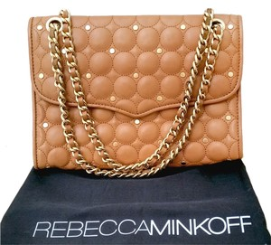 Rebecca Minkoff Quilted One Handbag Leather Studded Shoulder Bag
