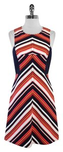 Trina Turk short dress Multi Color Striped Cotton on Tradesy