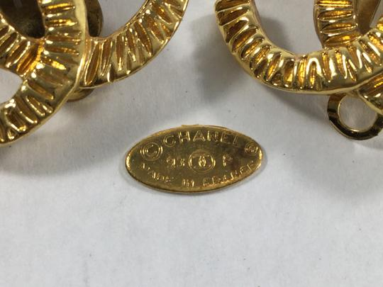 Chanel Chanel Gold CC Logo Earrings