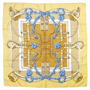 Hermès Yellow & Blue Grand Manege Silk Scarf