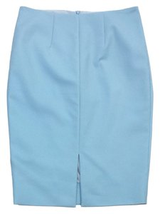 L'AGENCE Powder Blue Pencil Skirt