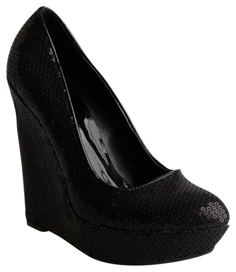 Allure Bridals Black Wedges