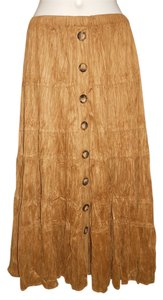 Coldwater Creek Maxi Skirt brown/tan