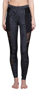 Lululemon Lulu Cheetah Exercise Work Out Workout Hot Yoga Barre Spin Spin Class Running Cutout Cutouts Peekaboo Fishnet Jogging Athletic Pants Animal Swirl