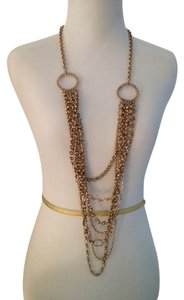 Chico's Long Gold color necklace 42