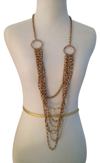 """Chico's Long Gold color necklace 42"""""""