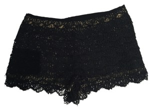 Haute Hippie Dress Shorts Black Lace