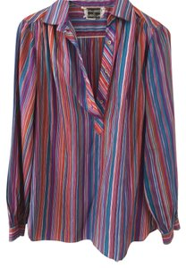 Contessa Monique Oversized Top Multi-Color Stripes
