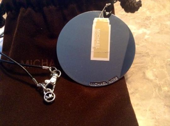 Michael Kors NWT Michael Kors Silver Pendant & Leather Cord Necklace