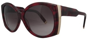DSquared DSquared Red Tortoise Oversized Round Full Rim Sunglasses
