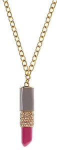 Kate Spade Kiss and Make Up Long Lipstick Pendant Chain